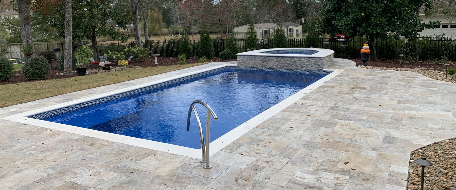 custom pool installed in Cape Carteret, NC